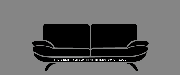 The Great Reader Mini-Interview, Part Seven: The Journey, Smut, and Black Tee Shirts