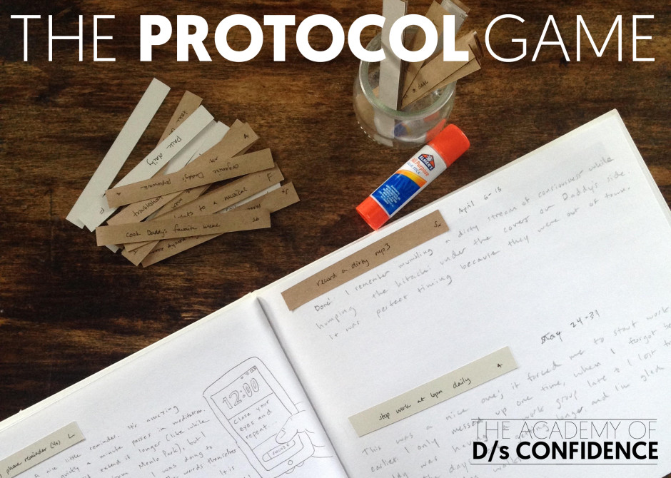 How rife & I Created Our D/s Protocol. Plus: Invitation to the new Protocol ecourse