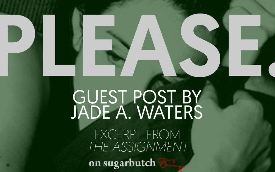 Please., Guest Post by Jade A. Waters (Excerpt from The Assignment)