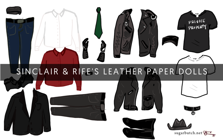 Sinclair & rife Are Leather Paper Dolls (& You Can Download Us!)