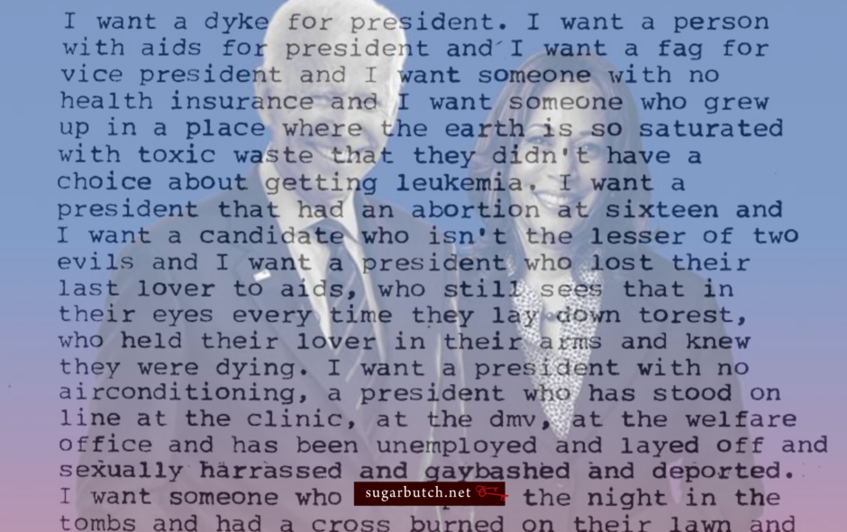 I'm Voting Biden/Harris, But I Still Want A Dyke For President